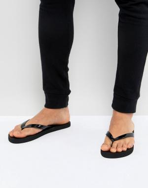 New Look Черные шлепанцы - Черный 7053418