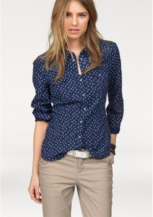 Рубашка AJC. Цвет: синий/белый