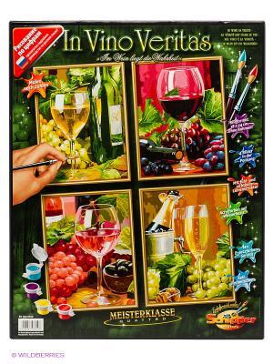 Набор для раскрашивания Вино, 4 картины Schipper. Цвет: зеленый