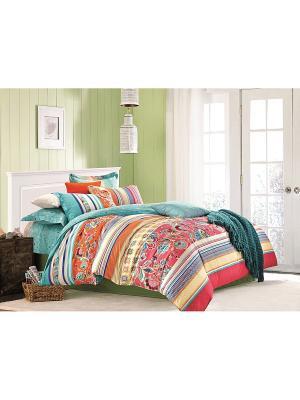 Комплект постельного белья ДУЭТ сатин, рисунок 681 LA NOCHE DEL AMOR. Цвет: красный