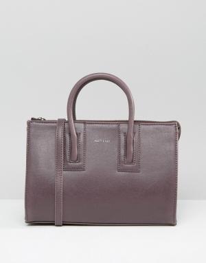 Matt & nat Маленькая сумка-тоут. Цвет: фиолетовый