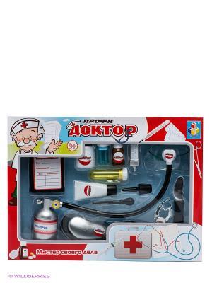 Игровой набор Профи доктор 1Toy. Цвет: красный, белый