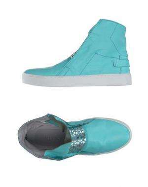 Высокие кеды и кроссовки LEA FOSCATI. Цвет: бирюзовый