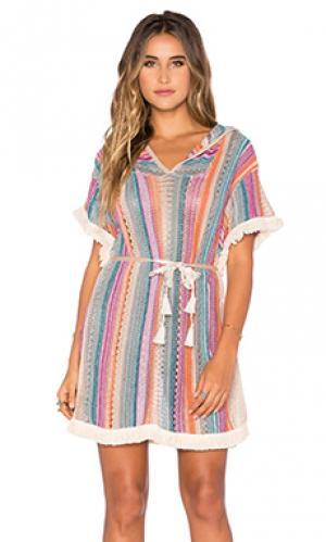 Платье serenity Goddis. Цвет: синий