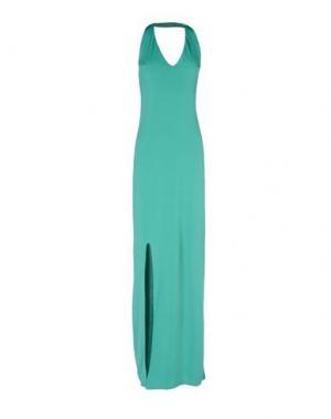Длинное платье GUESS. Цвет: зеленый