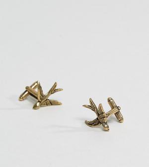Reclaimed Vintage Золотистые запонки Inspired эксклюзивно для ASOS. Цвет: золотой