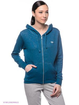 Толстовка Adidas. Цвет: морская волна