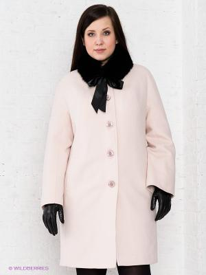 Пальто Klimini. Цвет: бледно-розовый