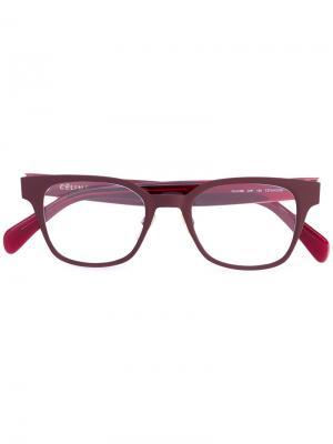 Солнцезащитные очки в квадратной оправе Céline Eyewear. Цвет: розовый и фиолетовый