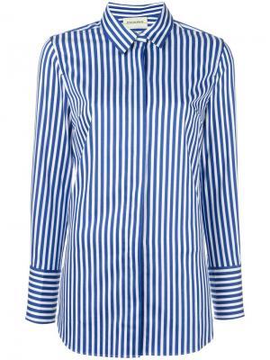 Рубашка в полоску By Malene Birger. Цвет: синий
