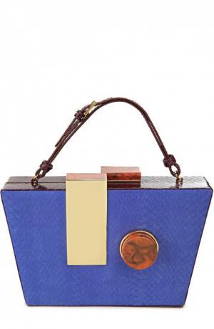 Клатч вечерний Tonya Hawkes. Цвет: голубой