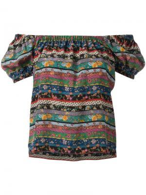 Блузка с абстрактным узором Philosophy Di Lorenzo Serafini. Цвет: многоцветный