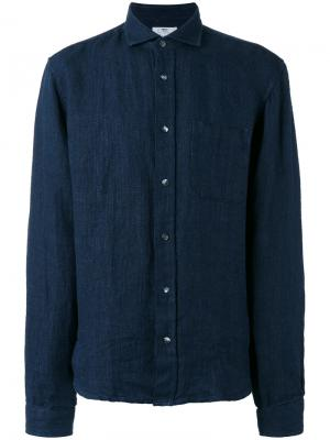 Рубашка с косым воротником Inis Meáin. Цвет: синий