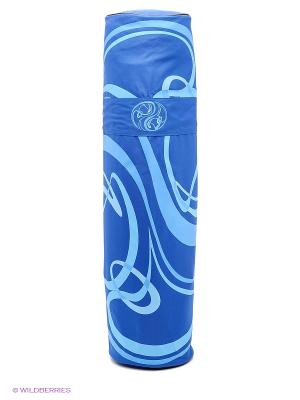 Сумка для коврика Сурья намаскар, 70 см (голубой) Ako-Yoga. Цвет: голубой