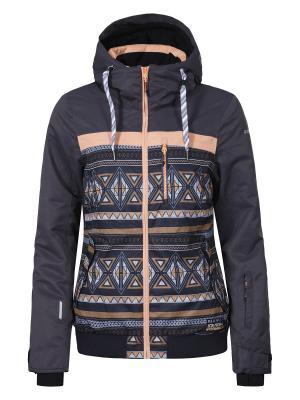Куртка Icepeak. Цвет: серый, оранжевый