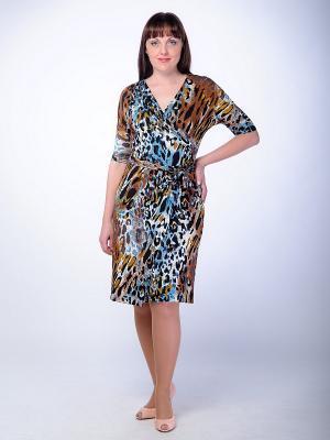 Платье Begood. Цвет: синий, коричневый