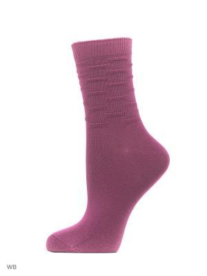 Носки, 3 пары Redestrella. Цвет: сиреневый, белый, темно-бежевый