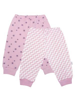 Ползунки - 2 шт. Веселый малыш. Цвет: фиолетовый, розовый, белый