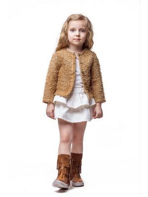 Жакет Николь Alisia Fiori. Цвет: золотистый, желтый, терракотовый, бронзовый, светло-коричневый