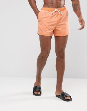 ASOS Оранжевые шорты для плавания. Цвет: оранжевый