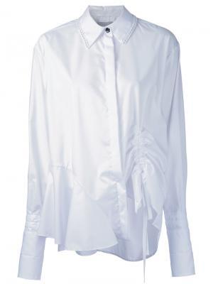 Рубашка с завязками Preen By Thornton Bregazzi. Цвет: белый