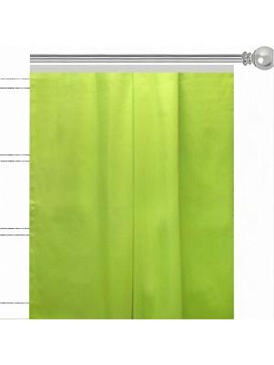 Однотонная штора Фисташио Altali. Цвет: салатовый