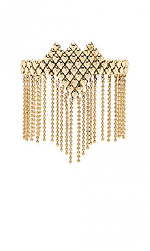 Браслет fringe SunaharA. Цвет: металлический золотой