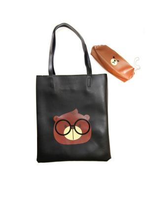 Пляжная сумка Lola. Цвет: черный, коричневый
