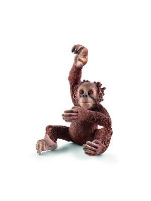Орангутан, детеныш SCHLEICH. Цвет: рыжий, бежевый, темно-бежевый
