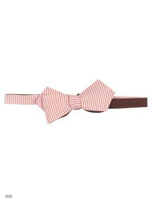 Галстук - бабочка Magnetiq. Цвет: розовый, коричневый