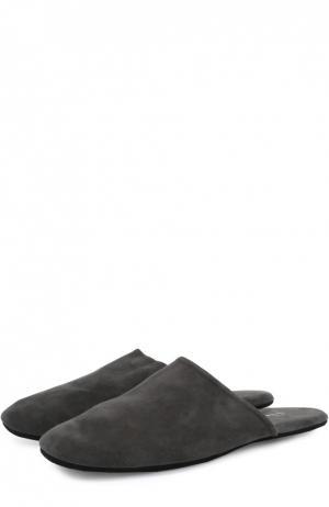 Домашние замшевые туфли Homers At Home. Цвет: серый