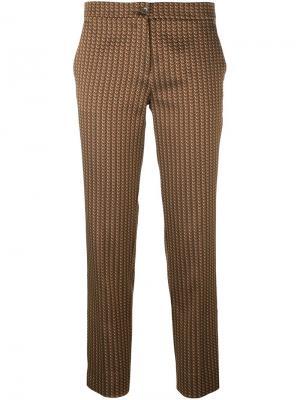 Укороченные брюки с принтом Etro. Цвет: жёлтый и оранжевый