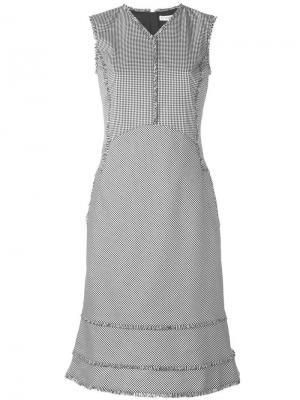 Клетчатое платье с необработанными краями Altuzarra. Цвет: чёрный