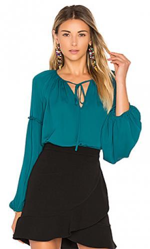 Блузка naya Amanda Uprichard. Цвет: сине-зеленый