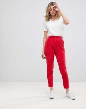 Daisy Street Бархатные брюки в винтажном стиле. Цвет: красный