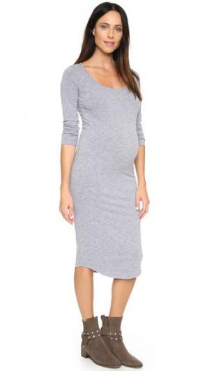 Платье для беременных с длинными рукавами MONROW. Цвет: гранит