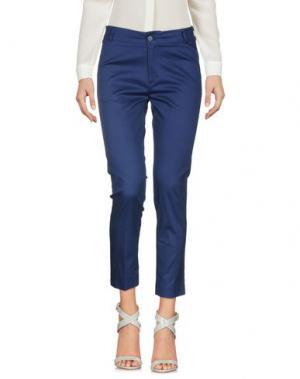 Повседневные брюки SPAGO DONNA. Цвет: темно-синий