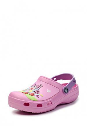 Сабо Crocs. Цвет: розовый