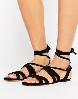 Faith Босоножки на шнуровке Jude. Цвет: черный