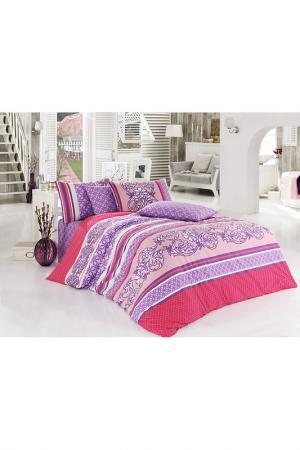 Комплект постельного белья Bahar Class Home Collection. Цвет: розовый