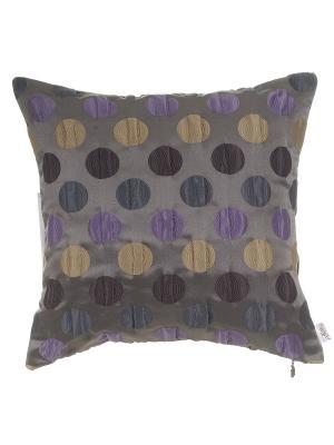 Чехол для подушки Violet круги Apolena. Цвет: фиолетовый