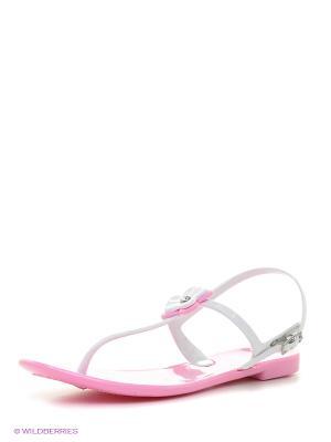 Сандалии Mon Ami. Цвет: бледно-розовый