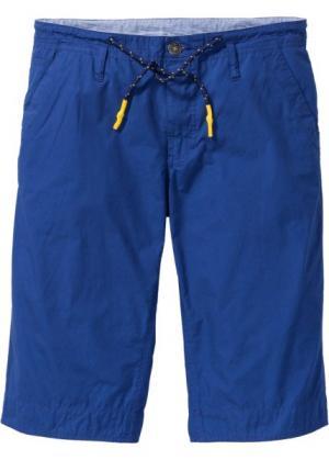 Длинные шорты-бермуды Regular Fit (голубой) bonprix. Цвет: голубой