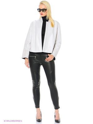 Куртка кожаная STEVEN-K. Цвет: белый