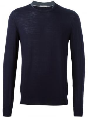 Джемпер плотной вязки Paolo Pecora. Цвет: синий