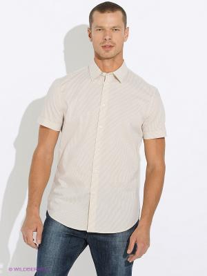 Рубашка INCITY. Цвет: белый, желтый