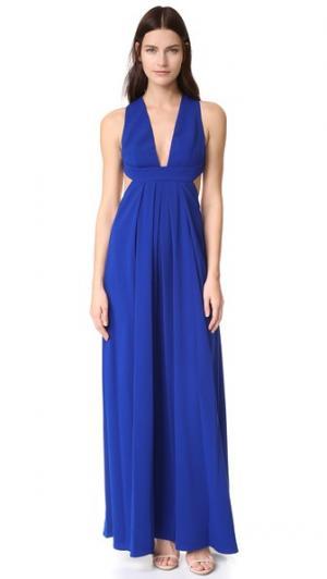 Вечернее платье с глубоким V-образным вырезом Jill Stuart. Цвет: кобальт