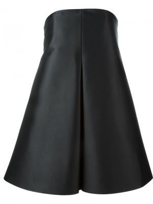 Платье с крупной плиссировкой Solace. Цвет: чёрный