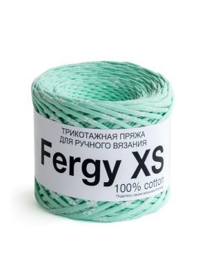 Пряжа Fergy XS. Цвет: светло-зеленый, молочный