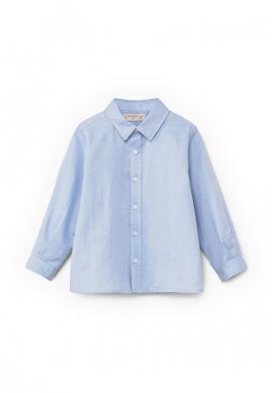 Рубашка Mango Kids. Цвет: голубой